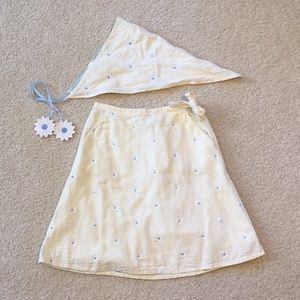 NWOT GAP seersucker skirt and bandana